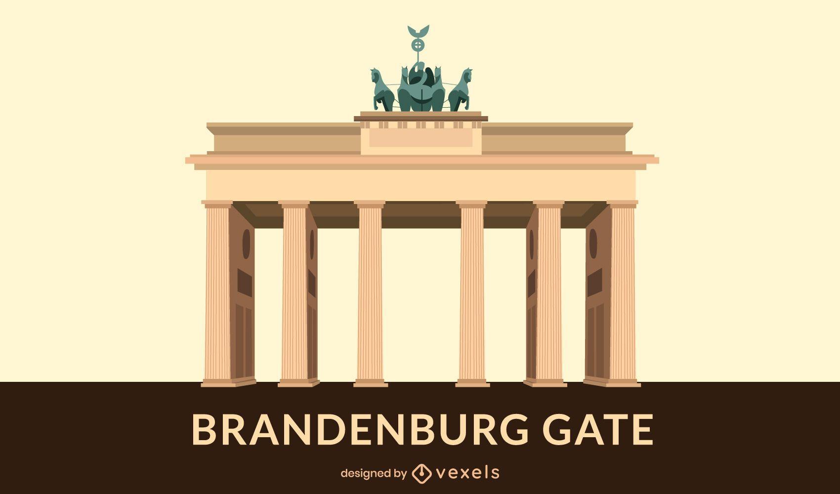 Brandenburg Gate Flat Design