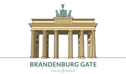 Design de portão de Brandemburgo colorido