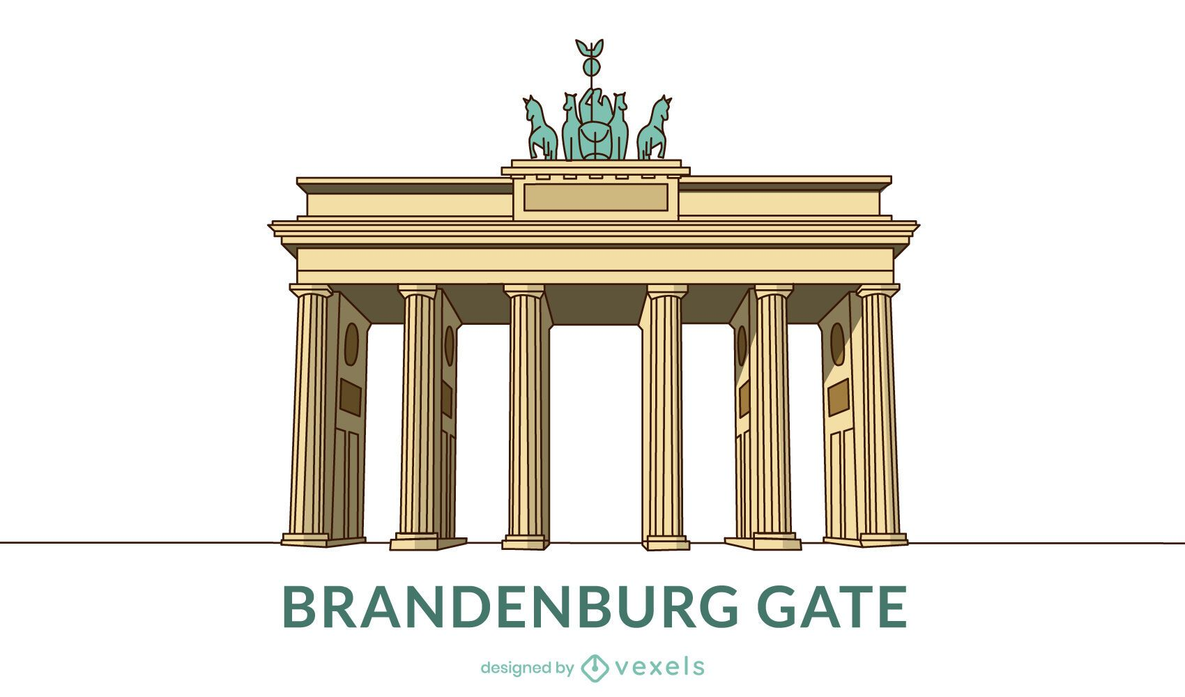 Colored Brandenburg Gate Design