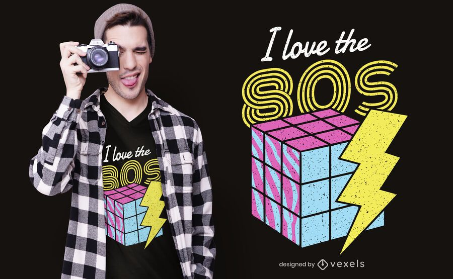 I Love The 80s T-shirt Design