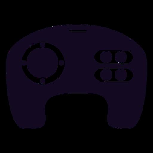 Joystick negro del jugador del controlador