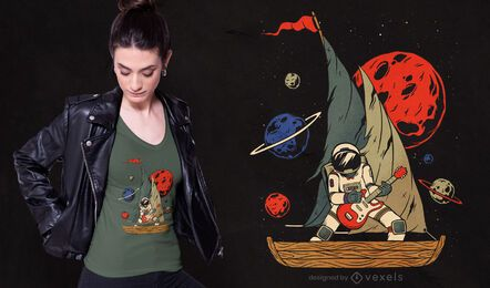 Design do t-shirt do astronauta Derifter