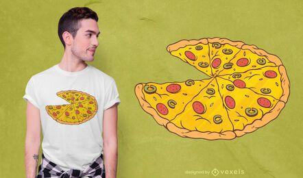 Design de t-shirt de pizza fatiada