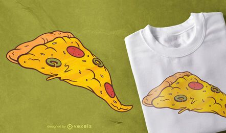 Diseño de camiseta Pizza Slice