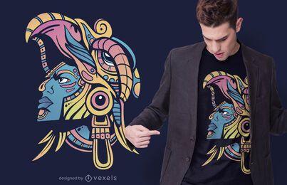 Diseño de camiseta de Guerrero Huichol