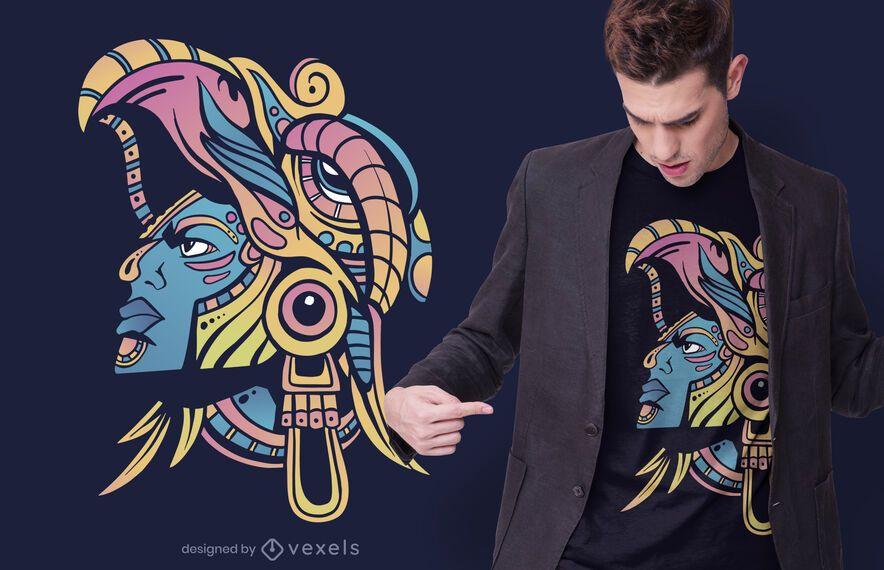 Huichol Warrior T-shirt Design
