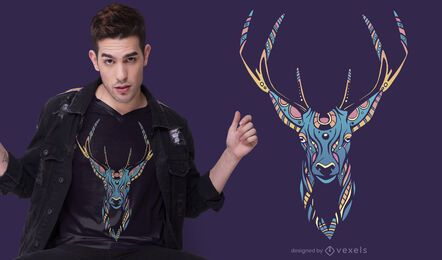 Trippy Deer T-shirt Design