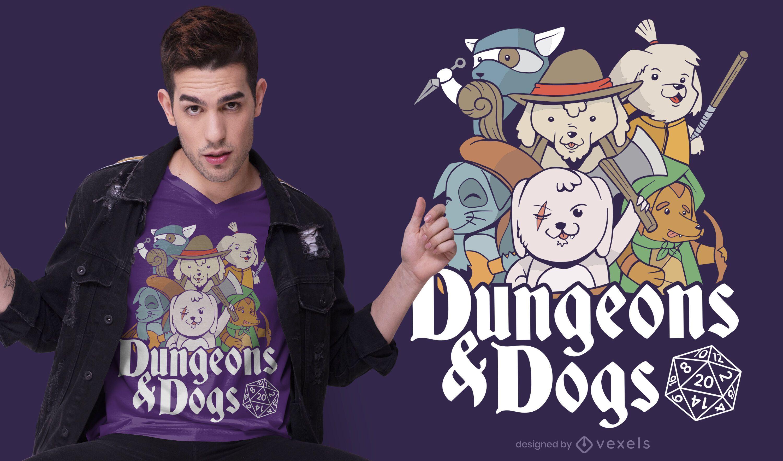 Dungeon Dogs T-shirt Design