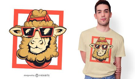 Diseño fresco de la camiseta de las ovejas