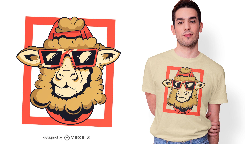 Diseño de camiseta Cool Sheep