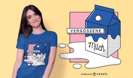 Diseño de camiseta alemana de leche derramada
