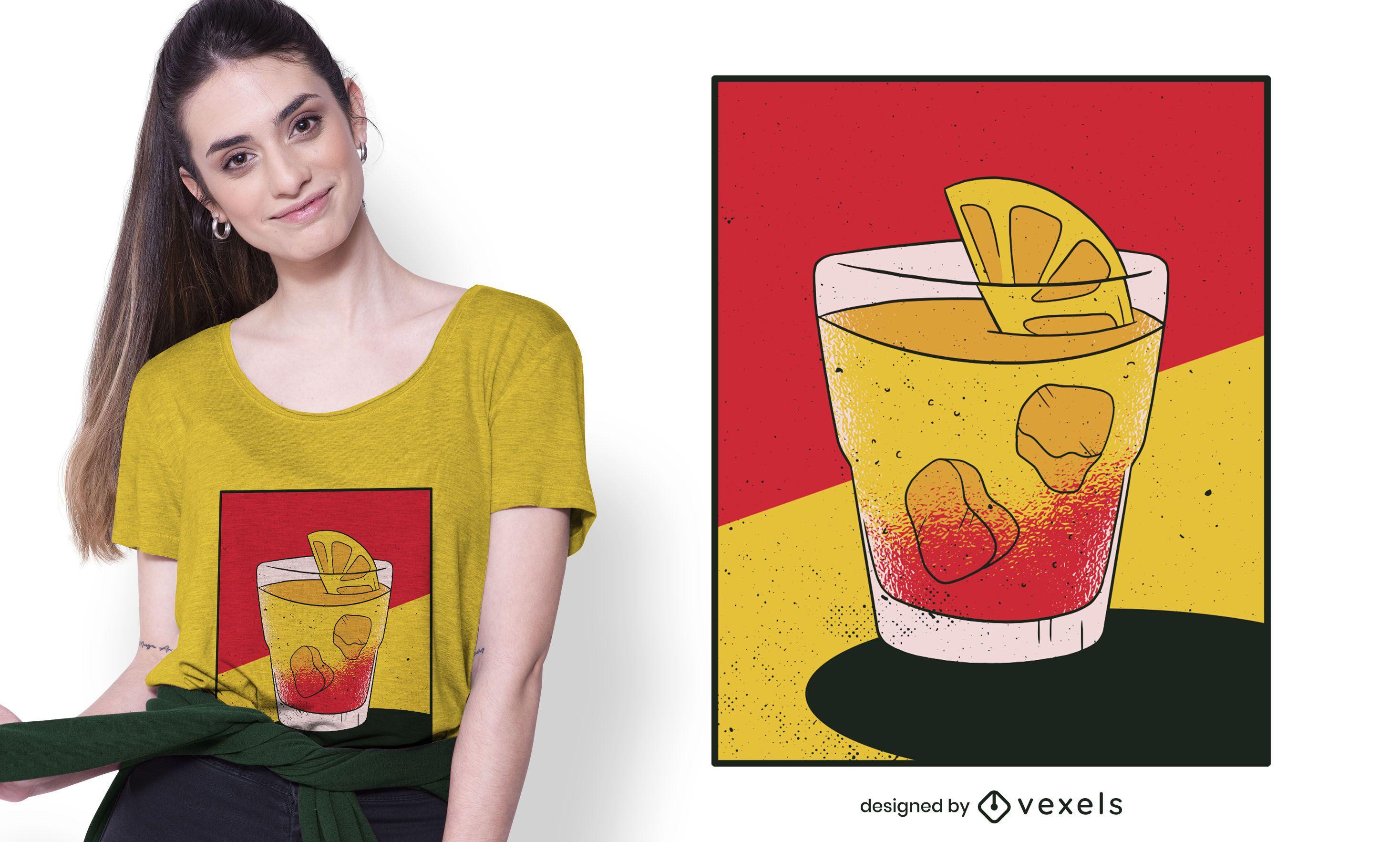 Diseño de camiseta de bebida Spritz