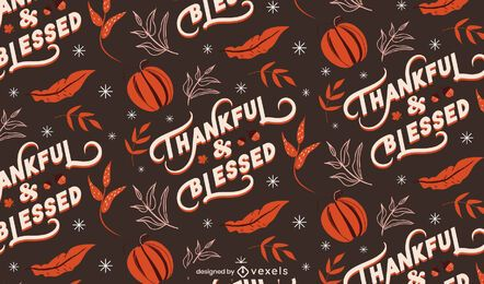 Thankful blessed thanksgiving pattern