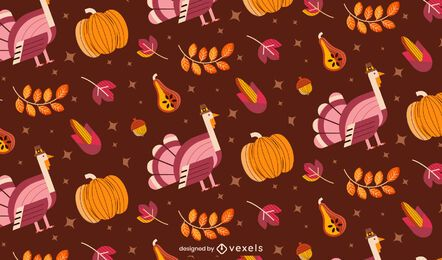 Flat Thanksgiving Illustration Pattern