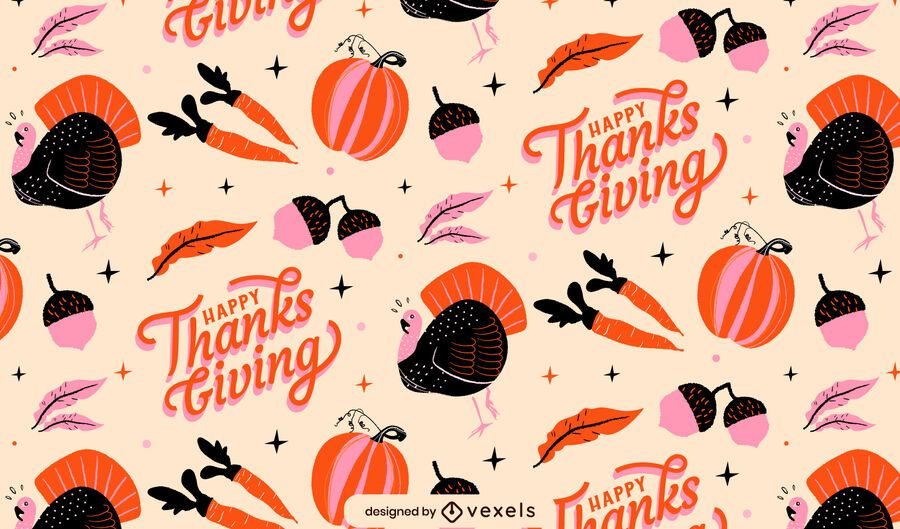 Happy Thanksgiving Flat Pattern Design