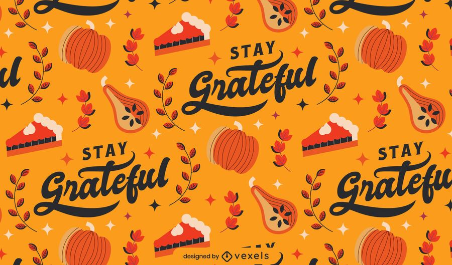 Grateful thanksgiving pattern design