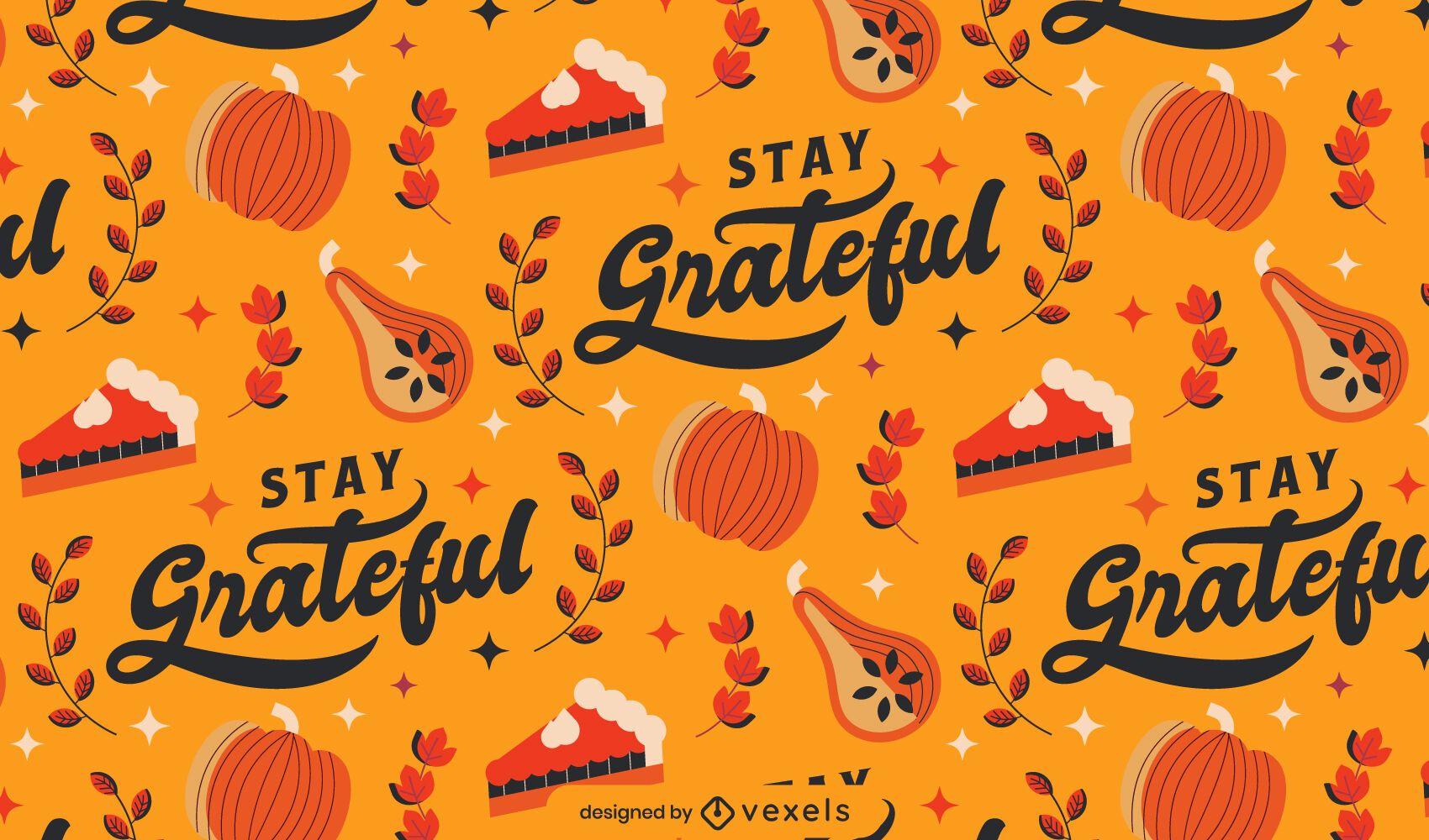 Diseño de patrón de acción de gracias agradecido