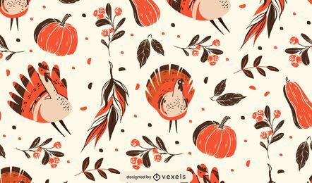Design de padrão de outono de ação de Graças