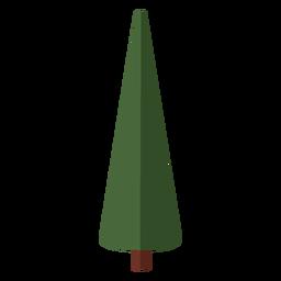 Pinheiro abstrata plana