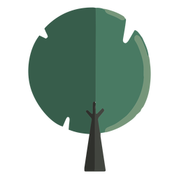 Abstract rounded tree flat