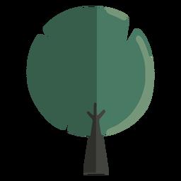 Árbol redondeado abstracto plano