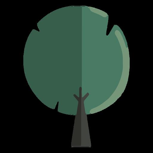 Árbol redondeado abstracto plano Transparent PNG