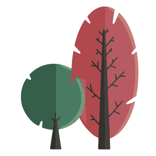 Abstract street trees flat design Transparent PNG