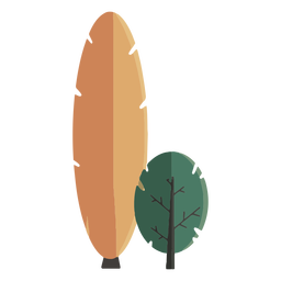 Abstract tree flat design