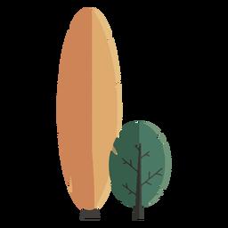 Diseño plano abstracto del árbol