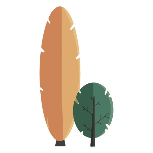 Abstract tree flat design Transparent PNG