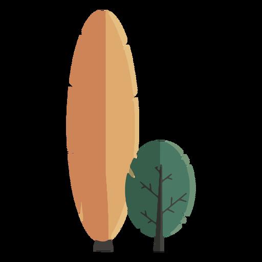 Diseño plano abstracto del árbol Transparent PNG