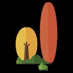 Arboles abstractos arbustos planos