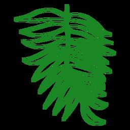 Areca palm tropical leaf hand drawn