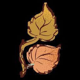Rama de otoño y hojas