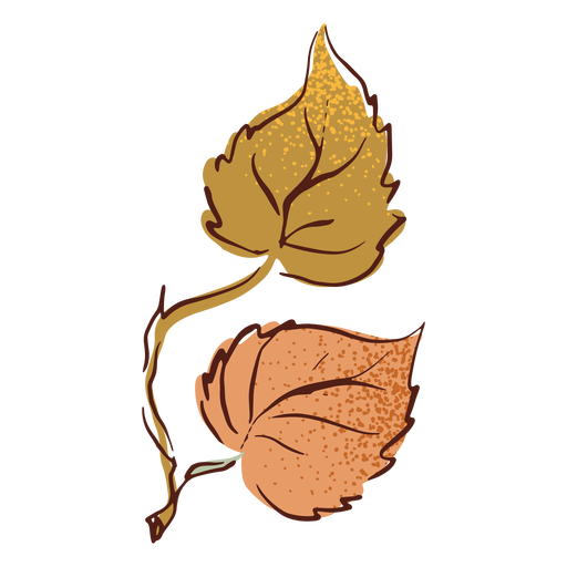Autumn branch and leaves Transparent PNG