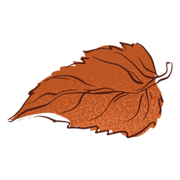 Hoja de otoño dibujado a mano
