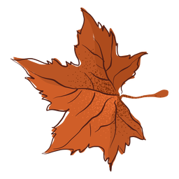 Folha de bordo do outono desenhada à mão