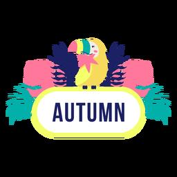 Quadro de selva de título sazonal outono