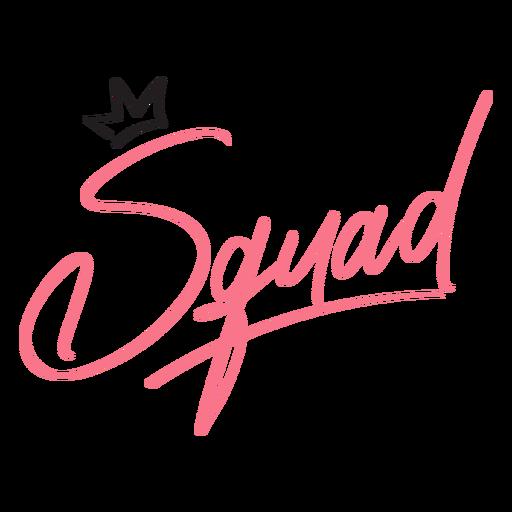 Bachelor party squad lettering Transparent PNG