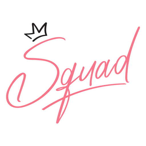 Bachelor party squad lettering