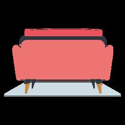 Vista trasera sofá muebles planos