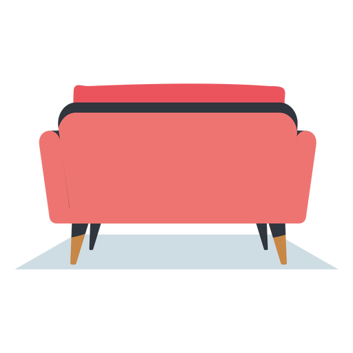 Back view sofa flat furniture