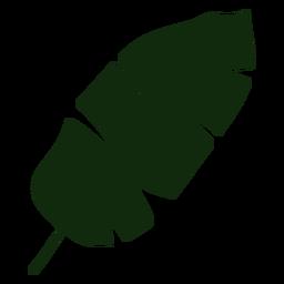 Dibujado a mano hoja de plátano árbol tropical