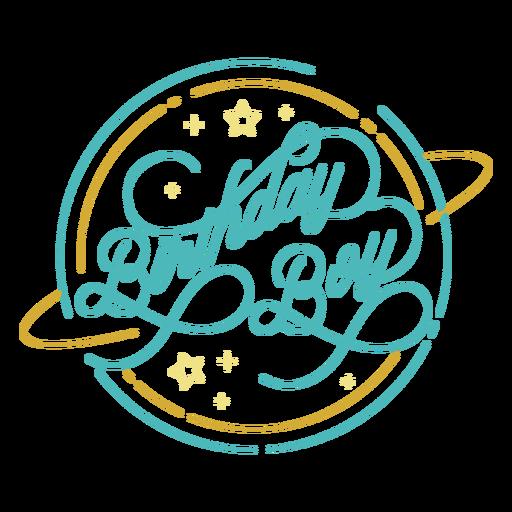 Aniversário de menino bonito desenho de citações