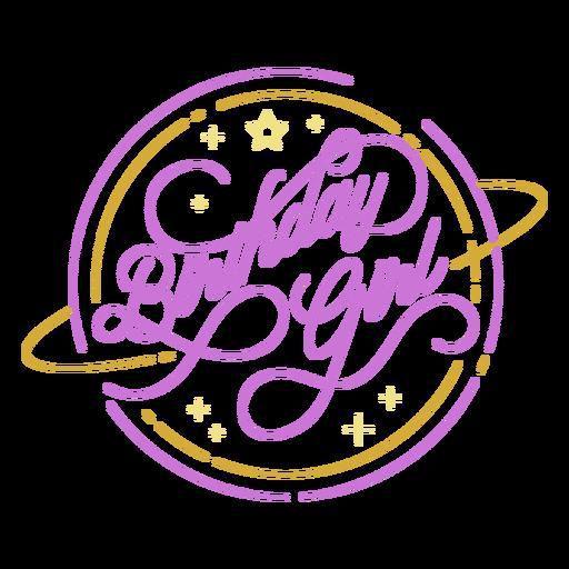 Birthday girl cute quote design