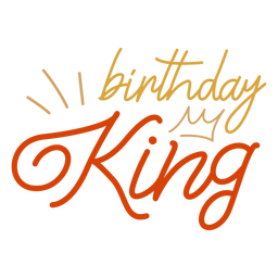 Cita de corona de rey de cumpleaños