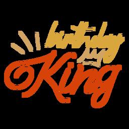 Citação de coroa do rei de aniversário