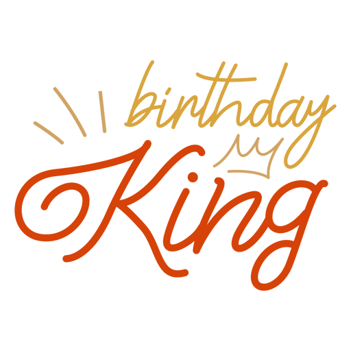 Birthday king crown quote