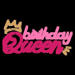 Citação de coroa de rainha de aniversário