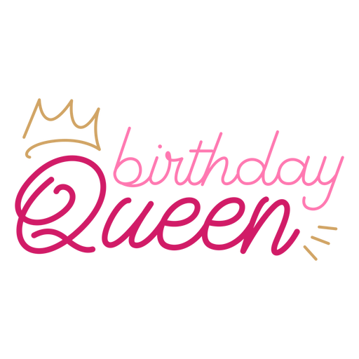 Cita de corona de reina de cumpleaños